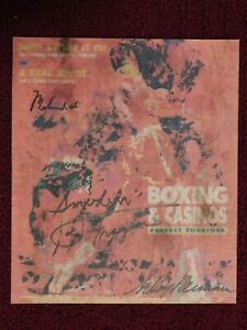 MUHAMMAD ALI - JOE FRAZIER - leROY NEIMAN autographed NEWSPAPER MAGAZINE COVER