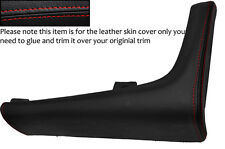 RED STITCH CUIR bordure console centrale couvercle de la peau s' adapte TOYOTA SUPRA MK4 93-02