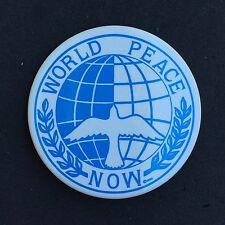 "World Peace Now Pinback Button 2 1/2"" Diameter."