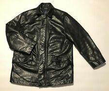 NAUTICA mens leather jacket M