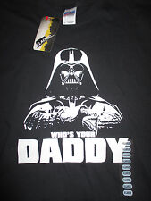 """STAR WARS """"WHO'S YOUR DADDY?"""" DARTH VADER (XL) T-Shirt w/ Tags"""