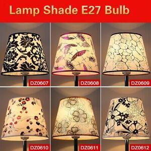 Table Lampshade PVC Textured Fabric Light Bulb Cover Lamp Shade E27 Bulb