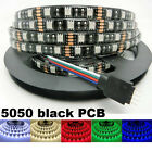 Waterproof 5050 RGB 5M 300 LED Strip Light 12V 24 KEY IR Controller Black Board