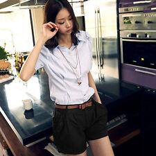 KF_ Womens Summer Shorts Korean Style Short Pants Casual Loose Beach Shorts Fa