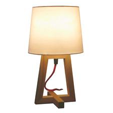 Tischlampe Holz Vintage Landhaus E27 Textilkabel D:18 H:33cm