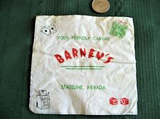 "Casino napkin circa 1960's? ""BARNEY'S STATELINE, NEVADA"" Lake Tahoe, Nevada"