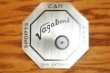 Vagabond S Antonio Sports Car Assoc Club Grille Grill Badge License Plate Topper