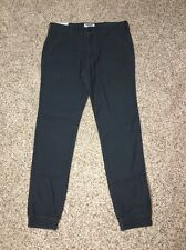 Express Jogger Mens Measures 35 X 31 Navy Twill Pants NWD tag says size 32