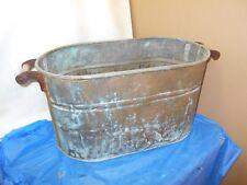 Antique / Vintage -Copper Boiler-Wash Tub Great For Planter Beer Soda Cooler