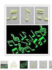 ADESIVO CREATIVO LUMINESCENTE X CAMERETTA O STUDIO MUSICALE STICKERS NOTA MUSICA