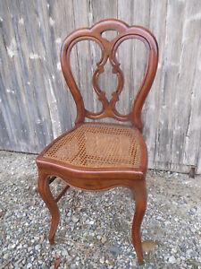 ancienne belle chaise Louis philippe epoque cannage siege ancien vintage