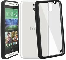 Amzer Quality SlimGrip Hybrid Bumper Case Back Cover For HTC Desire 610 - Black
