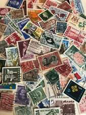 USED Canadian Lot 100 Different Stamps 1920-2000s