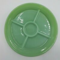 Green Fire King Jadeite Divided Dinner Plate