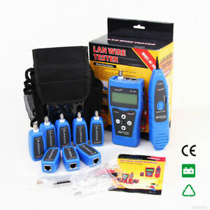 AU Network Ethernet LAN Phone Tester Wire Tracker USB Coaxial Cable 8 Jacks RJ45