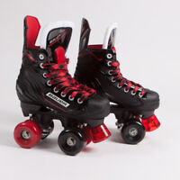 Bauer Quad Roller Skates - NSX - Black & Red Mixed Sims Street Snakes