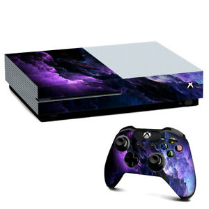 Xbox One S Console Skins Decal Wrap ONLY purple storm clouds