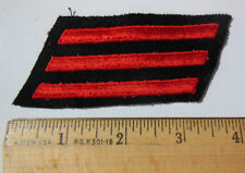AUTHENTIC US NAVY FIREMAN E-3 RATE PATCH, POST WWII, 3 RED HASHMARKS