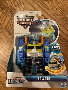 Transformers Rescue Bots Salvage Playskool Heroes figure Garbage Truck Toy RARE