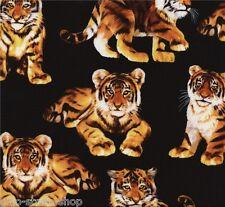 Baby Tiger Patchworkstoff Katzen Stoffe Patchwork Tiere Baumwollstoffe Baumwolle