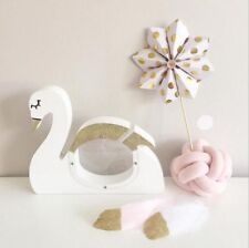 Wooden Swan Design Box Lovely Pattern Cute Decorative Crafting Materials Storage