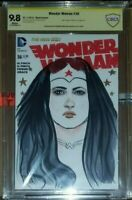 Wonder Woman 36 Variant CBCS 9.8 Signed And Original Art By Stephanie Hans (CGC)