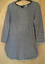 Merona Women's Black and White Stripe Tunic Top - Size M