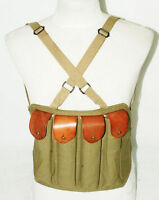 WWII US AMRY THOMPSON CHEST RIG MAGAZINE 4 CELL 30 ROUNDS MAGAZINE AMMO POUCH