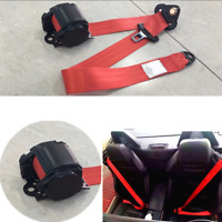 Extra Long 88-137 cm Quickly Adjustable Red Color Iron Plate Style Car Seat Belt