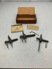 General Hardware Adjustable Circle Hole Fly Cutter Lot Of 3 Metal Wood LF V4