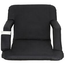 Easy Carry Stadium Seats Football Bleacher Chairs w/ Padded Cushion Backs Pocket