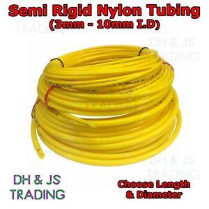 Yellow Semi Rigid Nylon Tubing - Pneumatic Air Line Pipe Fuel Tube Hose (Metric)