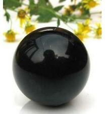 60MM NATURAL OBSIDIAN POLISHED BLACK CRYSTAL SPHERE BALL +STAND