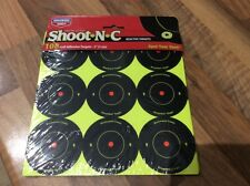 12 PACK SHOOT N C REACTIVE TARGET SELF ADHESIVE 2 INCH. 12 Sheets 108 TARGETS