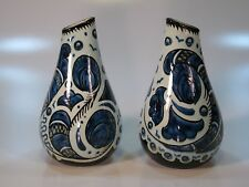 BLEU DU PARIS, ROYAL ZUID HOLLAND 1950's pair vases
