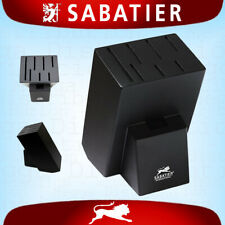 Sabatier Universal Kitchen 6 Knife Block + Scisssor/Cleaver Holder Rack Stand