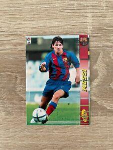 Lionel Messi rookie card 2004-2005 Panini Megacracks Barcelona #71 facsimile