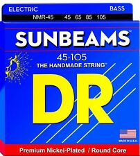 DR NMR-45 SUNBEAM NICKEL BASS STRINGS MEDIUM GAUGE 4's, 45-105