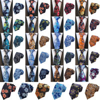 Men Floral Flowers Jacquard Wide Necktie Wedding Party Casual Tie New Fashion