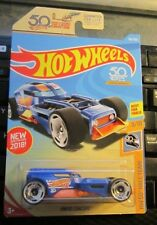 2018 Hot Wheels #361 HW 50th Race Team 9/10 CONCEPT Blue w/50th Dish Spokes 21#4