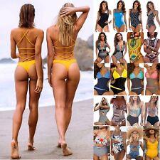 Womens Swimwear Padded Push Up Swimsuit One Piece Monokini Bikini Bathing Suit