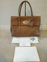 Genuine Mulberry Bayswater Deer Brown Soft Grain Leather Handbag Tote RRP £1,100