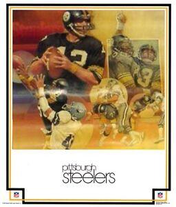 ORIGINAL 1979 Pittsburgh Steelers NFL DAMAC Poster Man Cave Rec Room IN PLASTIC!