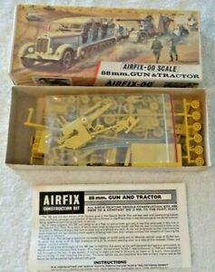 AIRFIX :00 SCALE #203V 88MM. GUN & TRACTOR 100% COMPLETE UNASSEMBLED