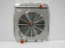 1954 to 1956 FORD RADIATOR FULL SIZE  ALUMINUM WITH FAN AND SHROUD