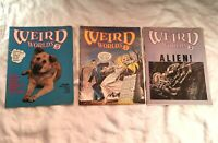 Weird Worlds Number 1 3 5 Scholastic Magazines 1980 1979 Horror Comic Lot of 3