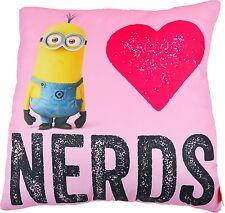 Minions Kissen**I Love Needs**Lizenzware  Pink (40x40cm) NEU&OVP
