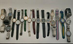 Uhrensammlung Herrenuhren Festina Timex Seiko Braun Swiss-Made usw