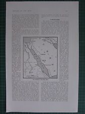 1917 WWI WW1 PRINT ~ MAP SHOWING SITUATION OF THE HOLY CITIES EQYPTIAN SUDAN