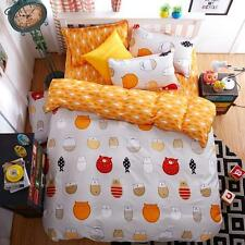 Single Double Queen King Nice Bed Set 2 Pillowcase Duvet/Quilt Cover Cute Cats O